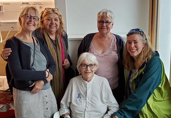 Kristin Svensson, Karin Cadwell, Ann-Marie Widström, Eva Nissen, and Kaysa Brimdyr