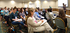 Workshop presenters and audience at the International Breastfeeding Conference